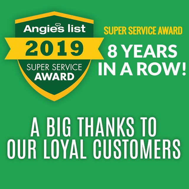 2019 Angie's List Super Service Award Air Conditioning Company